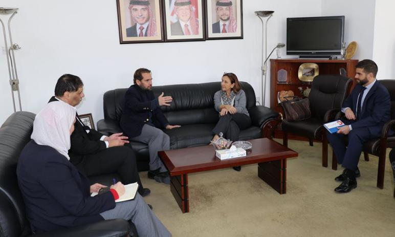 Prince Mired meets Spanish Ambassador, Amman Mayor